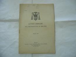 LETTERA CIRCOLARE ALL'ARCHIDIOCESI DI MILANO 1901 - Religion