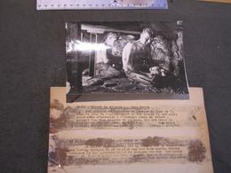 ANGLETERRE - MINUTE DE SILENCE EN HONNEUR DU DECES ROI GEORGES VI  PAR DES MINEURS AU TRAVAIL-PHOTO BELGA 20/2/52 - Célébrités