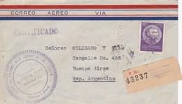 GIMBEL. PEROU COMMENCIAL COVER, CIRCULEE DE CALLAO A BUENOS AIRES, ARGENTINE AN 1943 PAR AVION RECOMMANDE -LILHU - Perú