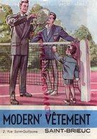 35- SAINT BRIEUC -DEPLIANT PUBLICITAIRE - MAGASIN MODERN ' VETEMENTS-2 RUE ST GUILLAUME - COSTUME MODE TENNIS-COMMUNION - Textile & Vestimentaire