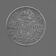 Philippines. 10 Centimos 1868 (495) - Philippines