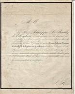 Bruges - 1842 - Baronne Catherine Le Bailly De Tilleghem - Lettre De Mort Envoiée à Louvain Au Baron De Spoelbergh - Images Religieuses