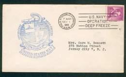 ETATS-UNIS US NAVY LETTRE OPERATION DEEP FREEZE 1.9.1959 POUR JERSEY CITY TB - Spedizioni Antartiche