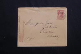 BELGIQUE - Entier Postal Pour Membach En 1909 -  L 62033 - Stamped Stationery