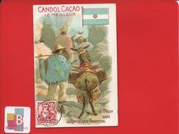 CANDOL CACAO Kandol Kakao  Chromo Allemande Poste Argentine ANE Timbre Cheval Montagne Lettre Courrier - Chromos