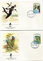 DOMINIQUE ENVELOPPES 1er JOUR DES N°1211/1214 OISEAUX OBLITERATION ROSEAU 26 JY 1990 - Dominica (1978-...)