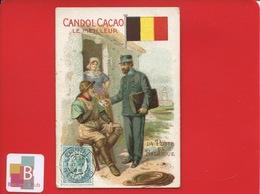 CANDOL CACAO Kandol Kakao  Chromo Allemande Poste Belgique Belge Facteur Pecheur Corde  Lettre Courrier - Chromos