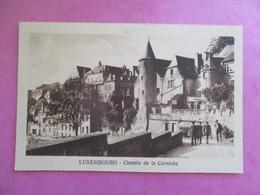 CPA LUXEMBOURG CHEMIN DE LA CORNICHE ANIMÉE - Luxembourg - Ville