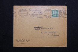 ALLEMAGNE - Enveloppe Commerciale De Frankfurt Pour Paris En 1930 -  L 62038 - Storia Postale