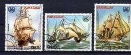 PARAGUAY BATEAUX 1983 (52) N° Yvert 939 à 941 Oblitérés Used - Paraguay