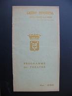 Programme CASINO Municipal Théâtre BOULOGNE SUR MER 1920 Nombreuses Publicités Locales - Programs