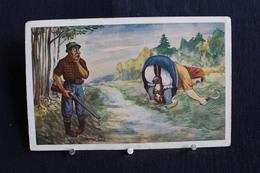 JA 221 - Humour - Homme Ayant Très Envie De Tirer Un Lapin Caché Dans Les Jupons D'une Dame - Pas Circulé - Humor