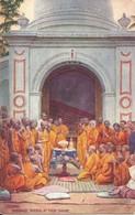 COLUMBO BUDDHIST PRIESTS AT THEIR SHRINE - WIDE WIDE WORLD SERIES - TUCKS OILETTE NO. 8937 - Sri Lanka (Ceylon)