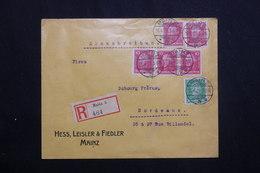 ALLEMAGNE - Enveloppe Commerciale En Recommandé De Mainz En 1928 Pour La France Affranchissement Plaisant -  L 62043 - Storia Postale