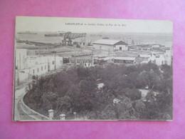 CPA MAROC CASABLANCA JARDIN PUBLIC ET VUE DE LA MER - Casablanca