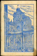 Recuerdo Valencia Cris Adam Cuaderno Con 10 Postales Cubierta Manchada - Valencia