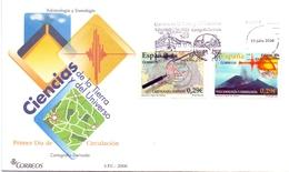 FDC CIENCIAS VULCANOLOGIA  COVER ESPANA 2006   (GIUGN200048 ) - Archeologie