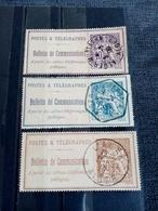 FRANCE.1900.N°22.24.25. Timbres TELEPHONE .Oblitérés ALGER. - Telegraaf-en Telefoonzegels