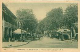 CAMBODGE - PNOM-PENH - UNE RUE COMMERCANTE DE PNOM-PENH - Cambodia
