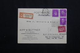 ALLEMAGNE - Carte Commerciale En Recommandé De Hamburg Pour La Belgique En 1931, Affranchissement Plaisant -  L 62045 - Storia Postale