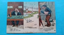 Romania Rumanie Caricatura Telefonul Din Trifoully-les-Oles Franta - Roumanie