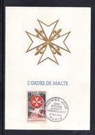""""""" L'ORDRE DE MALTE """" Sur Carte Maximum En RELIEF De 1956. N° YT 1062. Parfait état. CM - Maximumkaarten"""
