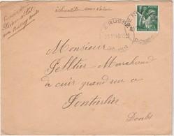 Enveloppe Commerciale 1940 / Aff Iris 1F / Envoi De Prince Vital Le Russey / 25 Doubs - Mapas