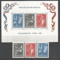 MONACO - MNH - Philately - Art - Exhibitions - 1989 - Filatelistische Tentoonstellingen