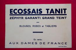 Buvard ÉCOSSAIS TANIT En Vente Aux Dames De France, Blouses, Robes Et Tabliers - Textile & Vestimentaire