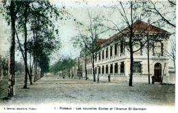 N°9317 -cpa Puteaux -les Nouvelles écoles Et L'avenue St Germain- - Puteaux