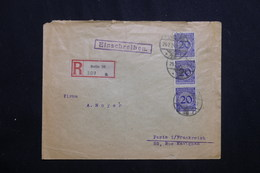 ALLEMAGNE - Enveloppe En Recommandé De Berlin Pour Paris En 1924 Affranchissement Plaisant -  L 62048 - Storia Postale