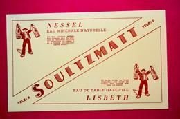 Buvard Eau Minérale NESSEL Et LISBETH, Soultzmatt, Alsace, Modèle Jaune/orangé - Buvards, Protège-cahiers Illustrés