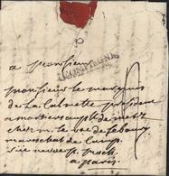 60 Oise Marque Postale COMPIEGNE Lenain N4 1764/1785 Pour Paris Pour Marquis De La Calmette Taxe Manuscrite 2 - Marcofilie (Brieven)