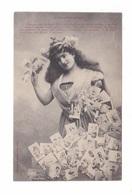 Collectionneurs, Femme Et Cartes Postales, Records De Correspondance Des Cartes Postales, éd. A. Bergeret & CIe - Bergeret