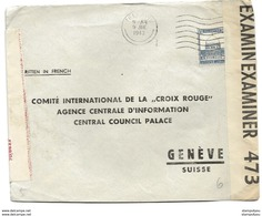 134 - 100 - Enveloppe Envoyée De Palestine à La Croix-Rouge Genève - Censure 1940 - Palästina