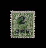 ***REPLICA*** Of Faroe Islands 1919 Surcharged 2o On 5o Green , Sc 1 - Faroe Islands