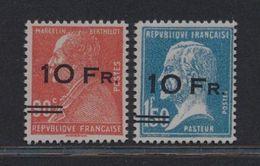 ***REPLICA*** Of 1928 FRANCE 10fr On 90c And 10fr On 1.50fr, Scott C3 - C4 - Frankrijk