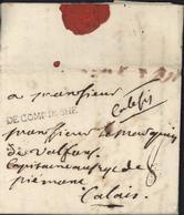 60 Oise Marque Postale DE COMPIEGNE 58 Taxe Manuscrite 8 Pour Marquis De Valfons Capitaine Régiment De Piemont - Marcofilie (Brieven)