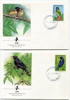 GRENADE / GRENADINES ENVELOPPES 1er JOUR DES N°1132/1135 OISEAUX OBLITERATION GRENADA - GRENADINES 10 SEP 1990 - Grenada (1974-...)