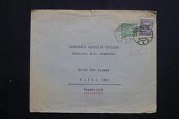 ALLEMAGNE - Enveloppe Commerciale De Darmstadt Pour Paris En 1925, Affranchissement Plaisant Perforés -  L 62051 - Storia Postale