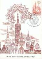 FRANCE CARTE MAXIMUM LILLE ANNEE DU BEFFROI 1982 N°2238 TB - Maximumkaarten