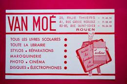 Buvard Librairie VAN MOÉ à Rouen, Fournitures Scolaires, Stylos, Disques, Électrophones..... - Cartoleria