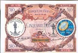 FRANCE CARTE BANQUE DE FRANCE PHILA OUEST DEMAIN L'EURO OCTOBRE 2002 N°3402 TB - Frankrijk