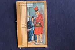 JA 226 - Humour - La Femme Ne Doit Elle Pas Suivre Son Mari ?  Moet De Vrrouw Haren Man Niet Volgens ? Pas Circulé - Humor