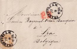 ALLEMAGNE L PRUSSE Obl FRANKFURT  A.M. 22 IX 1867 Vers Spa  ALLEMAGNE Par EST 2 - Pruisen