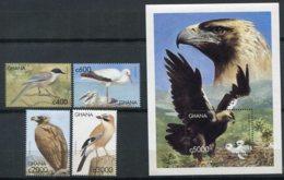 Ghana     Oiseaux       2459/2462 ** +  Bloc 381 ** - Birds
