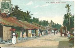 COLOURED POSTCARD - COLPETTY BAZAAR - COLOMBO - CEYLON - Sri Lanka (Ceylon)