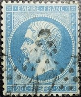 N°22. Variétés (Voir Cartouches Inférieure Entre Le S Et T De Poste) Oblitéré étoile De Paris N°17 - 1862 Napoleon III