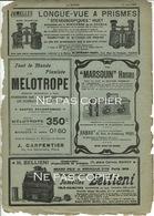 BELLIENI Le Marsouin Fauvel Publicités Journal La Nature 1902 - Cámaras Fotográficas