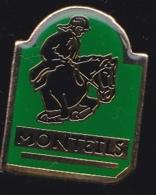 65367-Pin's-Monteils .Aveyron, En Région Occitanie.équitation.hippisme.cheval - Villes